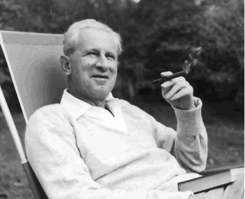 Herbert Marcuse 1955 in Newton, Massachusetts