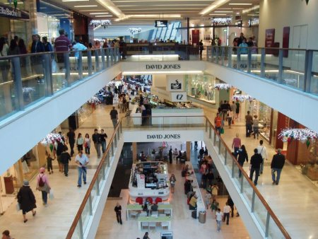 Bondi Junction shopping mall with David Jones, Sydney, Australia