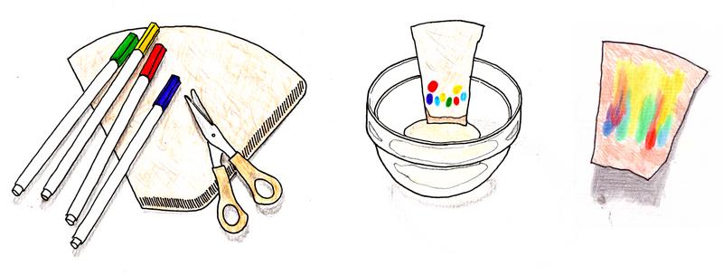 idealistik filterpapiermalereien illustration von sanne grabisch. Black Bedroom Furniture Sets. Home Design Ideas